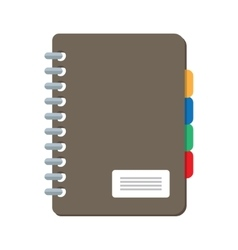 Closed notebook icon isolated on white vector image