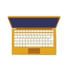 Laptop computer device vector
