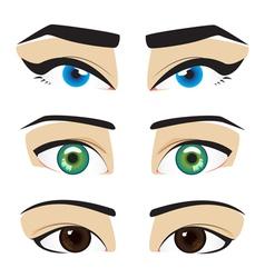 blue green brown eyes vector image