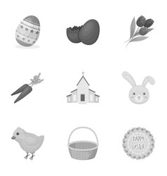 Easter cake egg chicken rabbit butterfly and vector