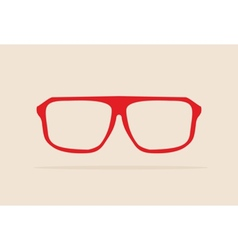 Red retro hipster glasses vector