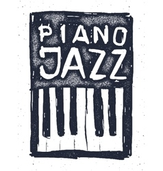 Playing the jazz piano hand drawn vector