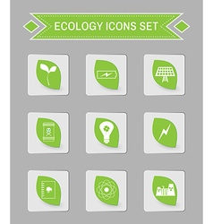 Ecology logo icon set vector