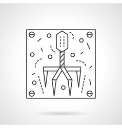 Bacteriophage icon flat line design icon vector