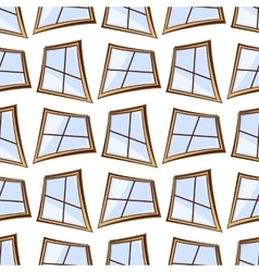 White windows seamless vector