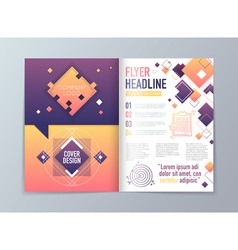 Abstract brochure flyer design template in a4 vector