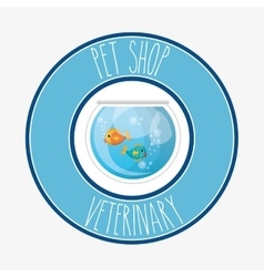 Aquarium pet shop icon vector