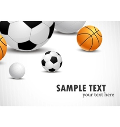 background with balls vector image vector image