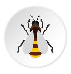 Bee icon circle vector