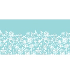 Blue and white lace garden plants horizontal vector