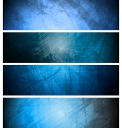 Blue textural backgrounds set vector image vector image