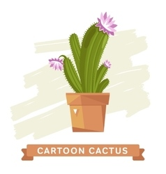 Cactus flower cactus isolated vector