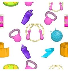 Fitness pattern cartoon style vector