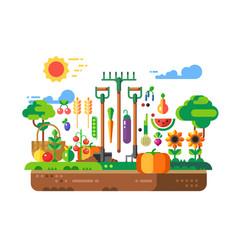 gardening design concept vector image