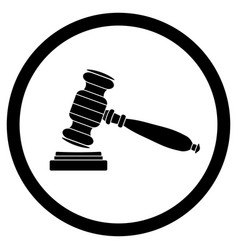 gavel icon black vector image
