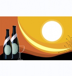 goblet of wine vector image vector image