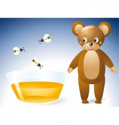 honey bear vector image