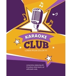 Karaoke party poster vector image