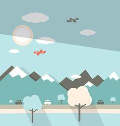 Landscape Flat Design vector image