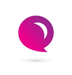 Letter E speech bubble logo icon design template vector image vector image