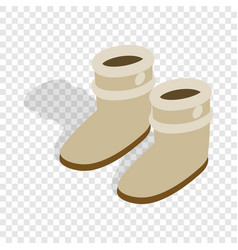pair of winter shoes isometric icon vector image vector image