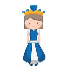 princess girl icon vector image