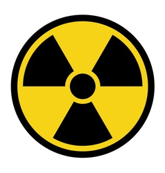 Radiation yellow sign vector