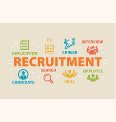 recruitment concept with icons vector image