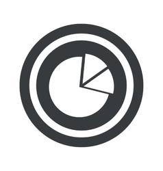 Round black diagram sign vector image vector image