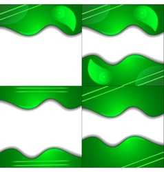 Set green cloth texture background with place for vector