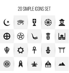 set of 20 editable dyne icons includes symbols vector image vector image