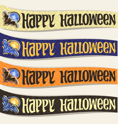 Set of ribbons for halloween vector
