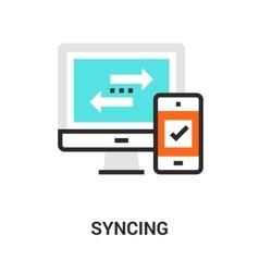 syncing icon concept vector image