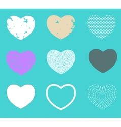 Valentine heart love symbol pattern set vector image vector image