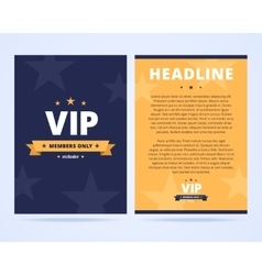 VIP club flyer layout vector image vector image