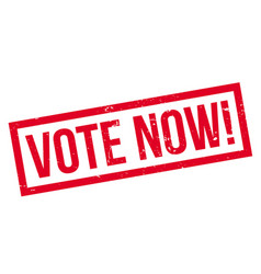 Vote now rubber stamp vector