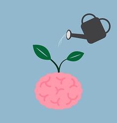 Watering brain plant vector