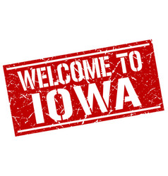 Welcome to iowa stamp vector