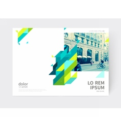 Blue yellow and green diagonal lines vector