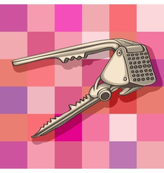 Garlic press vector