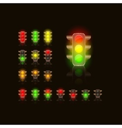 Bright traffic lamps vector