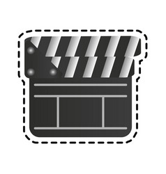 closed clapperboard icon image vector image