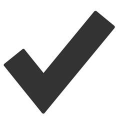 ok tick flat icon vector image
