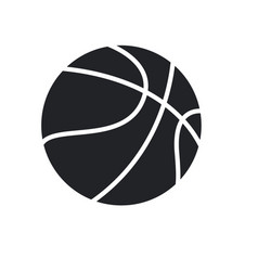Basketball ball sport play equipment pictogram vector