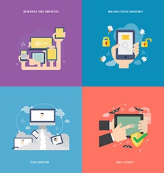 Element of mobile technology concept icon in flat vector
