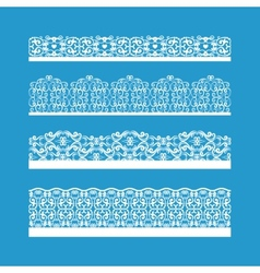 Seamless Decorative Vintage Borders vector image