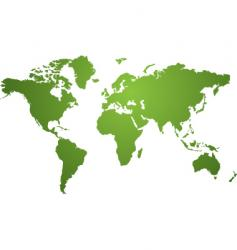 World map green vector