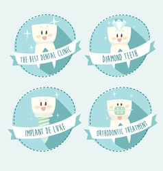 Concept of healthy teeth icon set vector