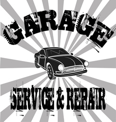Vintage garage poster design vector