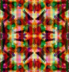 Seamless pattern hippie abstract tie dye rorschach vector